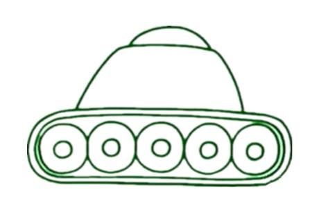 幼儿园坦克简笔画步骤图片