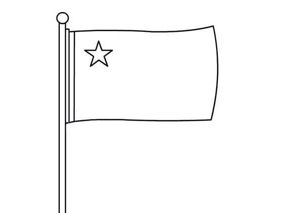 国旗简笔画步骤图片 如何画国旗简笔画